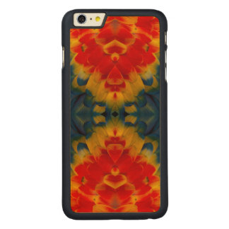 Kaleidoscope Scarlet Macaw design Carved Maple iPhone 6 Plus Case