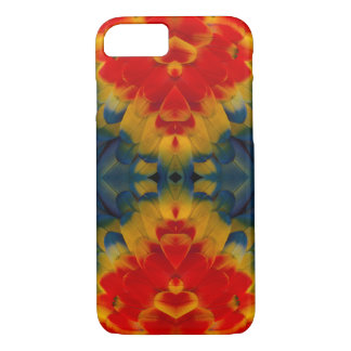 Kaleidoscope Scarlet Macaw design iPhone 7 Case