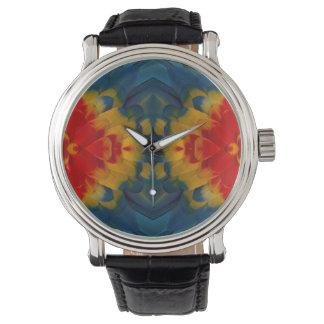Kaleidoscope Scarlet Macaw design Watch