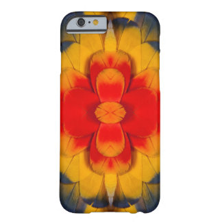 Kaleidoscope Scarlet Macaw feather Barely There iPhone 6 Case