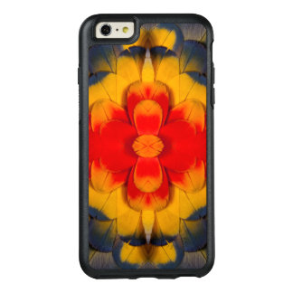 Kaleidoscope Scarlet Macaw feather OtterBox iPhone 6/6s Plus Case