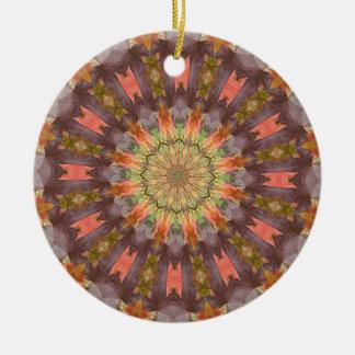 Kaleidoscope series - Autumn Leaves Christmas Tree Ornaments