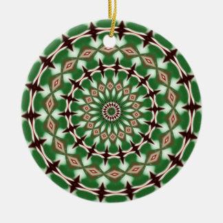 Kaleidoscope series - Christmas Candy 3 Christmas Tree Ornament