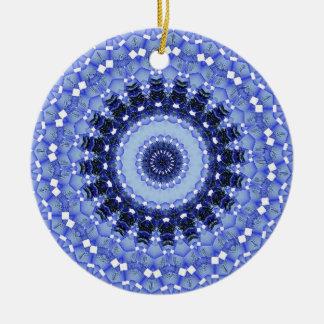 Kaleidoscope series - Winter Snow 1 Christmas Ornament