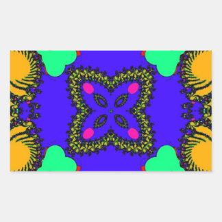 Kaleidoscope Rectangle Sticker