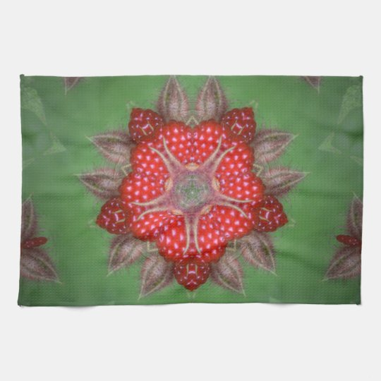 Kaleidoscope Strawberry Tea Towel