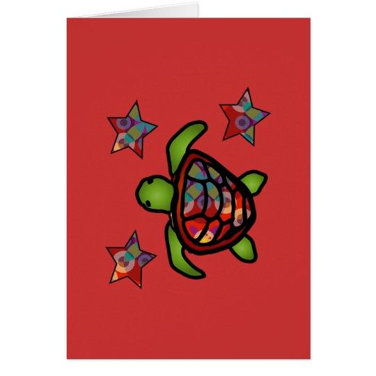 Kaleidoscope Turtle Card