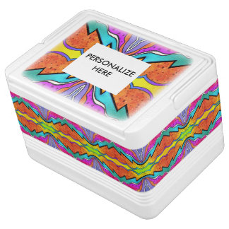 KALEIDOSCOPE WATERCOLOR COOLER