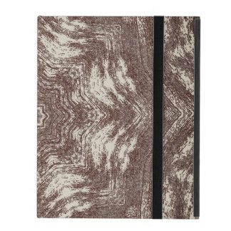 Kaleidoscope Wood Grain Look iPad Folio Case