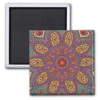 Kaleidoscope Yoga Pattern Magnet