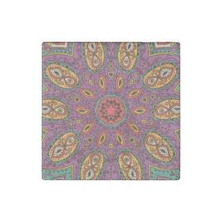 Kaleidoscope Yoga Pattern Stone Magnet