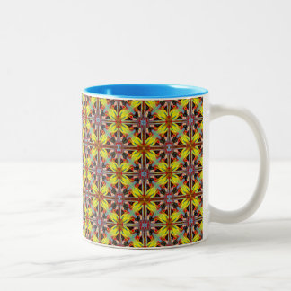 Kaleidoscopic 11 oz Two-Tone Mug