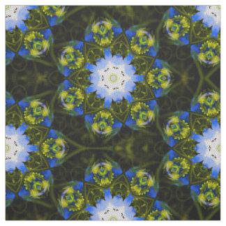 Kaleidoscopic Baby Blue Eyes Fabric