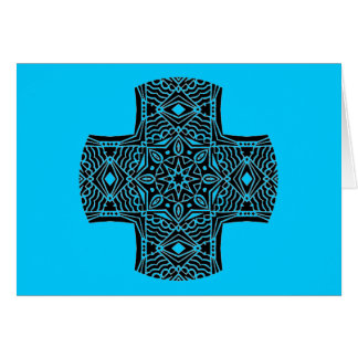 Kaleidoscopic Cross Greeting 1 Card