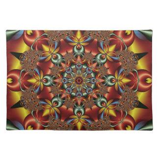 Kaleidoscopic fantasy place mats