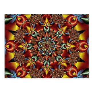 Kaleidoscopic fantasy postcard