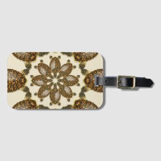 kaleidoscopic luggage tag
