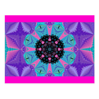 Kaleidoscopic Mandala Design Postcard.2 Postcard