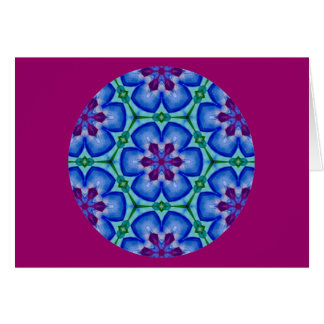 Kaleidoscopic Mandala Floral Design.2 Card