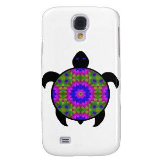 Kaleidoscopic Mandala Turtle Design Samsung Galaxy S4 Cases