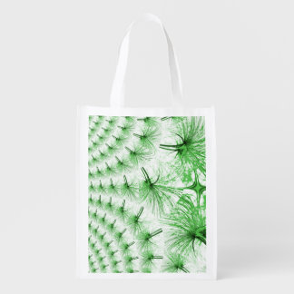 Kaleidoscopic Plant Tail Patterned Reusable Bag