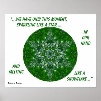 Kaleidoscopic Star Snowflake Poster.1 Poster