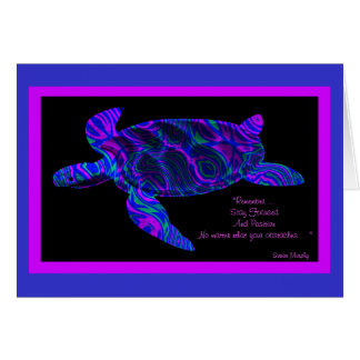 Kaleidoscopic Turtle with Quote Card 2