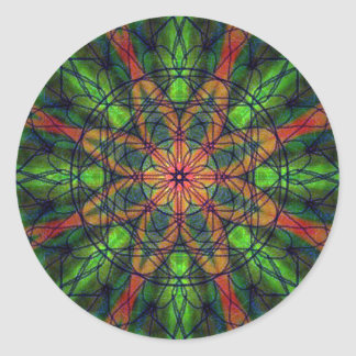 Kaleidoscopic Vision Classic Round Sticker