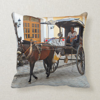 Kalesa in Vigan Cushion