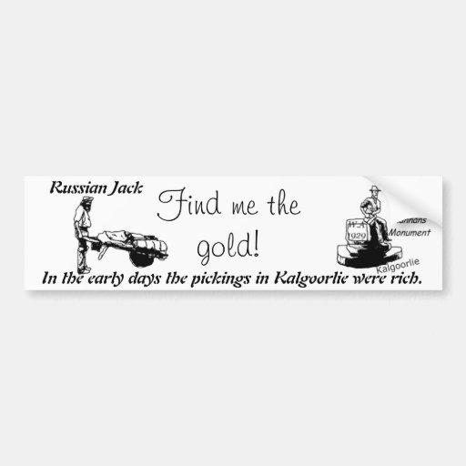 Kalgoorlie icon :Russian jack Bumper Sticker