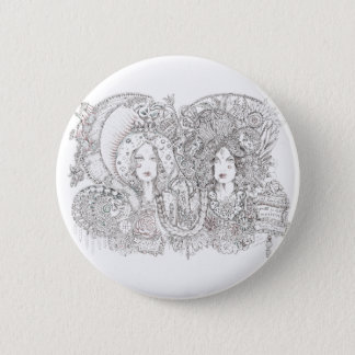 kali and guadalupe 6 cm round badge