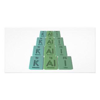 Kali as Potassium Aluminium Iodine Photo Greeting Card