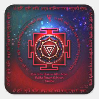 Kali Yantra Square Sticker
