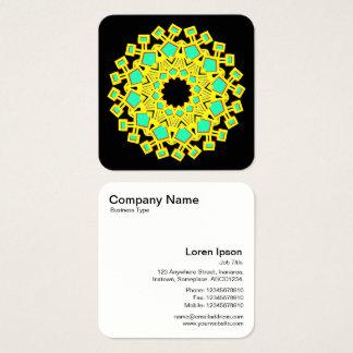 Kaliedoscope Motif Square Business Card