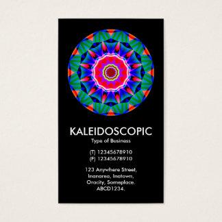 Kaliedoscopic Mandala 01 - Black Business Card