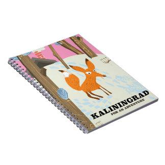 "Kaliningrad ""for an adventure"" travel poster notebooks"