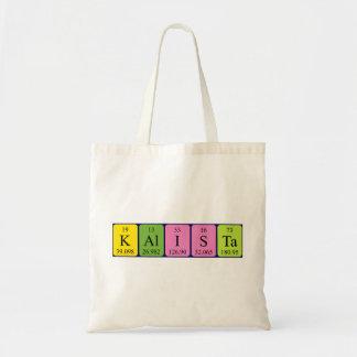 Kalista periodic table name tote bag