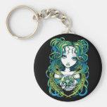 """Kallan"" Green Lotus Water Angel Keychain"