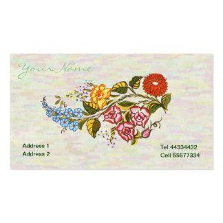 kalocsai floral motifs in light base business card template