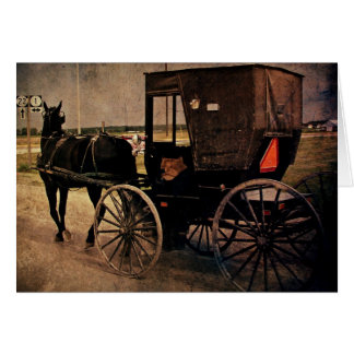 Kalona, Iowa Amish Buggy, Birthday Card