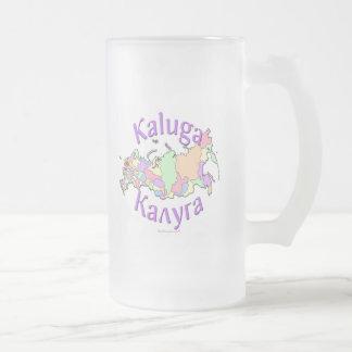Kaluga Russia Frosted Glass Beer Mug