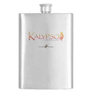 Kalypso Colorful Logo With Rainbow Sea Turtle Hip Flask