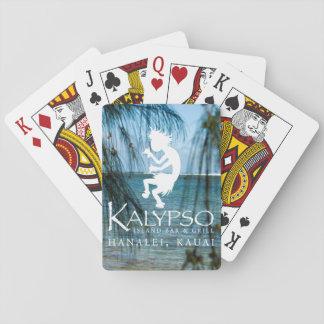 Kalypso Kane Logo in White Playing Cards