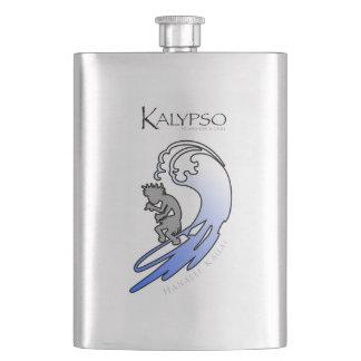 Kalypso Kane Surfing in Blue Hip Flask
