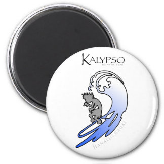 Kalypso Kane Surfing in Blue Refrigerator Magnets