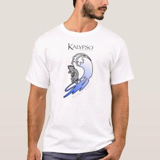Kalypso Kane Surfing in Blue T-Shirt