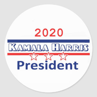 Kamala Harris President 2020 Classic Round Sticker