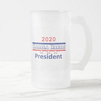 Kamala HARRIS President 2020 Frosted Glass Beer Mug