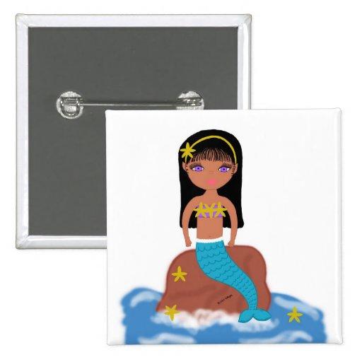 Kamaria the Mermaid Button