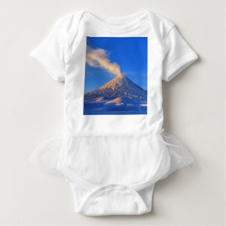 Kamchatka active Klyuchevskoy Volcano at sunrise Baby Bodysuit